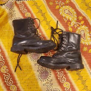 Vintage handmade military boots